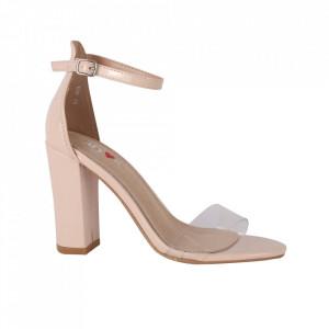 Sandale din piele ecologică cod M16 Beige