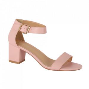Sandale din piele ecologică cod OD0101 Pink