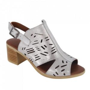 Sandale din piele naturală cod 034 Silver