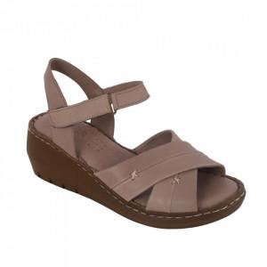 Sandale din piele naturală cod 05 Vizon