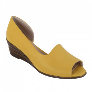 Sandale din piele naturală cod 0635 Yellow