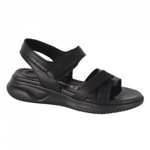 Sandale din piele naturală cod 10002 130-63 SIYAH