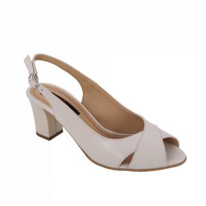 Sandale din piele naturală cod 333 Crem