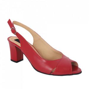 Sandale din piele naturală cod 333 Red