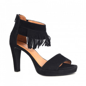 Sandale din piele naturală cod 8010817D Black