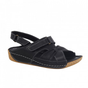 Sandale din piele naturală pentru dame cod 399 Black
