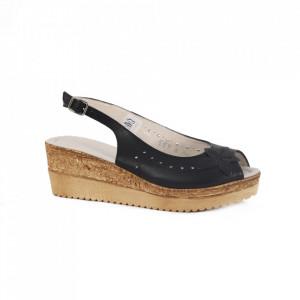Sandale din piele naturală pentru dame cod 65706 Negru