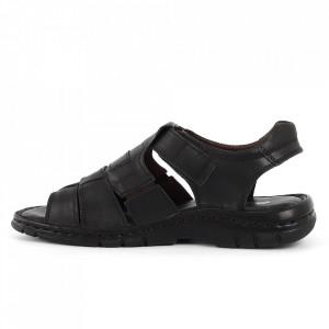 Sandale pentru bărbaţi cod 021 Black - Sandale pentru bărbaţi Închidere cu scai Calapod comod - Deppo.ro