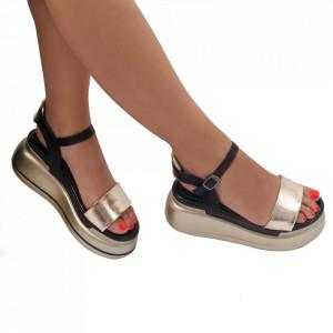 Sandale pentru dame cod 22050-6 Gold