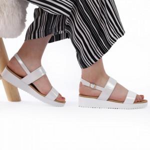 Sandale pentru dame cod 63136 Silver