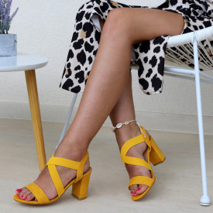 Sandale pentru dame cod 85017 Yellow
