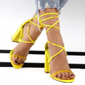 Sandale pentru dame cod KN008 Yellow