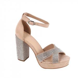 Sandale pentru dame cod M04 Beige