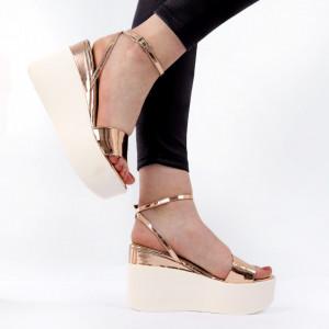 Sandale pentru dame cod PD2 Champagne