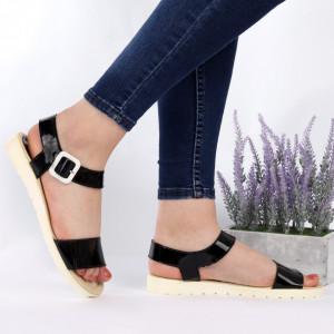 Sandale pentru dame din piele naturală cod Taby Black
