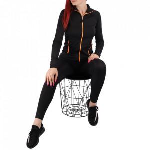 Trening pentru femei cod Redics-F05 ORANGE - Trening pentru femei, compus din haină și pantalon Material ușor elastic Haina cu inchidere cu fermoar și buzunare cu inchidere cu fermoar Pantalon cu inchidere cu șiret și buzunare laterale - Deppo.ro