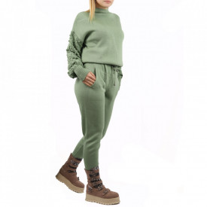 Trening tricotat damă Verde