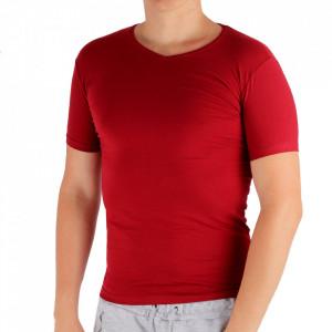 Tricou pentru bărbați Cod 4120 Bordo