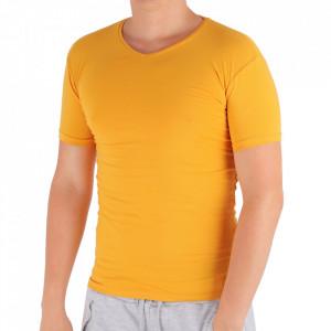 Tricou pentru bărbați Cod 4120 D.Yellow