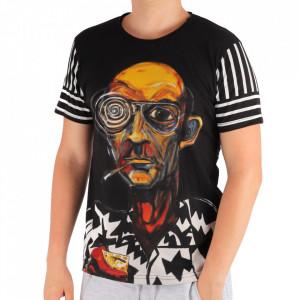 Tricou pentru bărbați Cod DNS1 Black