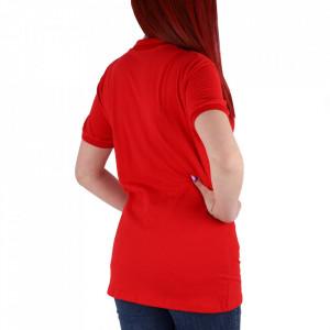 Tricou pentru dame cod TRC1 Red - Tricou pentru dame  Model cu guler și închidere prin nasturi - Deppo.ro