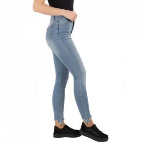 Pantaloni de blugi pentru dame cod 1129 Albaștri