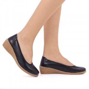 Pantofi din piele naturală cod 2111 Negri