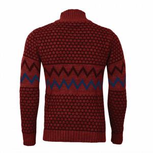 Bluză Colin Vişinie - Bluza este cel mai versatil articol vestimentar din sezonul rece, o piesă cu reputaţie a stilului casual având compoziţia 50% lână 50% acrilic - Deppo.ro