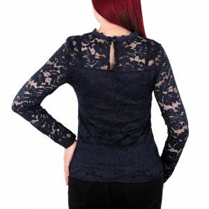 Bluză Lilah Bleumarin - Bluză bleumarin din dantelă foarte elegantă potrivită pentru orice ocazie. - Deppo.ro