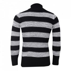 Bluză Marvin Negru Cu Gri - Bluza este cel mai versatil articol vestimentar din sezonul rece, o piesă cu reputaţie a stilului casual având compoziţia 50% lână 50% acrilic - Deppo.ro