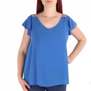 Bluză pentru dame cod BZ70 Albastră