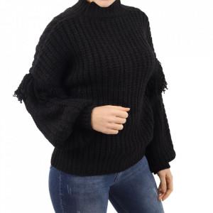Bluză pentru dame cod F50 Black - Bluzăpentru dame - Deppo.ro