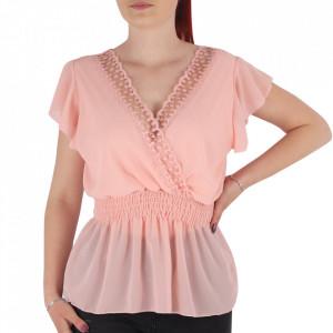 Bluză pentru dame tip cămășuță cod 1938 Pink
