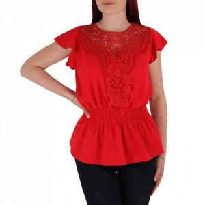 Bluză tip cămășuță pentru dame cod BP98 Red
