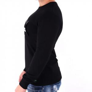 Bluză Tobis Black - Bluza simplă este cel mai versatil articol vestimentar din sezonul rece, o piesă cu reputaţie a stilului casual având compoziţia 65% bumbac, 30% poliester şi 5% lycra - Deppo.ro