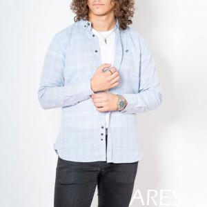 Cămaşă casual cu mânecă lungă cod ARS80 Albastru Deschis - Camasa pentru barbati cu maneca lunga croiala confort fit. O camasa potrivita atat pentru o zi la birou, cat si pentru o iesire in oras cu prietenii. Compozitie: 100% Bumbac - Deppo.ro