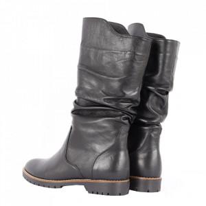 Cizme din piele naturală cod 1249 BN - Cizme din piele naturală ideale pentru sezonul rece Calapod comod - Deppo.ro