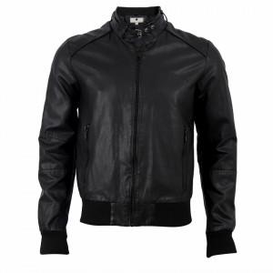 Geacă din piele ecologică pentru bărbați cod A101 Neagră