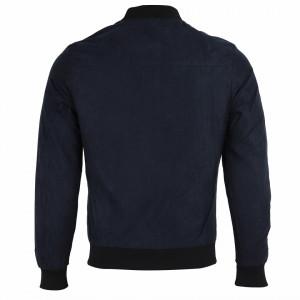 Geacă din piele ecologică pentru bărbați cod P1810 Albastră - Geacă din piele ecologică pentru bărbați model primăvară-toamnă pe albastru - Deppo.ro
