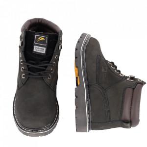 Ghete pentru bărbați cod WD815 Black - Ghete din piele naturală, stil casual. - Deppo.ro
