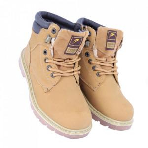 Ghete pentru bărbați cod WD815 Yellow - Ghete din piele naturală, stil casual. - Deppo.ro