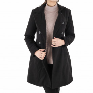 Palton Alicia Black Sidef