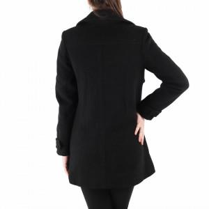 Palton Carmen Black - Palton elegant cu închidere cu nasturi, căptușit pe interior. Îmbracă-l la rochii sau ținute office și asortează-l cu o pereche de mănuși din piele pentru un plus de eleganță. - Deppo.ro