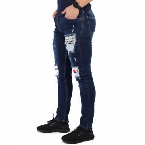 Pantaloni de blugi pentru bărbați cod P5458 Albaștri