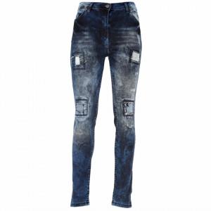 Pantaloni de blugi pentru dame cod DENIM01 Navy