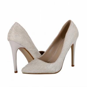 Pantofi Cu Toc Amir White