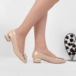 Pantofi Cu Toc Bej 5524