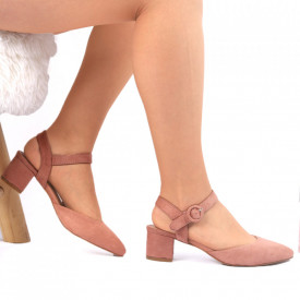 Pantofi cu toc Bej Cod 0025