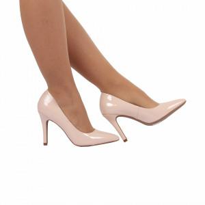 Pantofi cu toc cod A55051 Beige