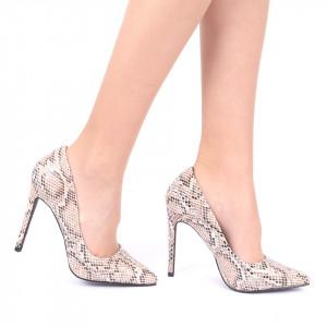 Pantofi cu toc cod AN22 Bej